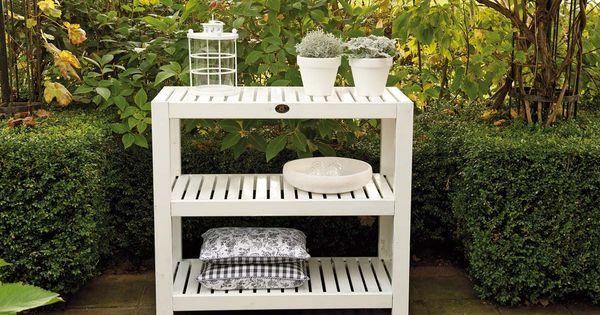De verfijnde vormgeving van de elan sidetable past uitstekend bij een eigentijdse tuinstijl of - Eigentijdse tuinmeubilair ...