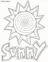 Weather Weather Theme Weather Kindergarten Coloring Pages