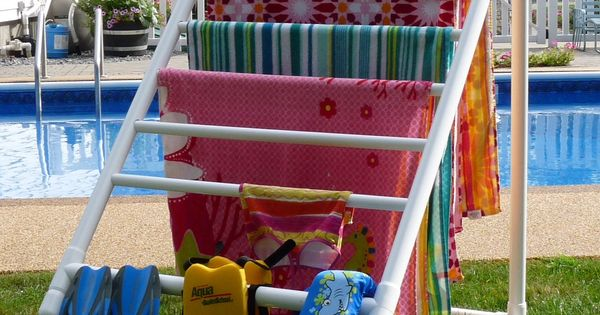 Outdoor Towel Rack Diy Pvc Pipe Projects Pinterest Summer Towels And Lakes