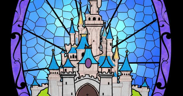 Cinderella S Castle Stained Glass Effect Naty Amp Dary