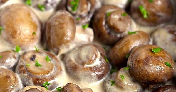 Creamy garlic mushrooms receta guarnici n comidas for Comidas rapidas caseras