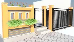 40 Model Pagar Tembok Minimalis Rumah Minimalis