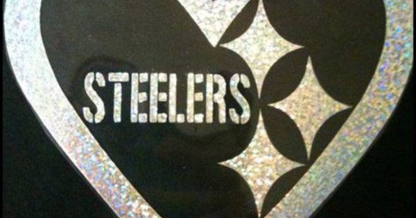 Pittsburgh Steelers Inspired Glitter Heart Logo Tshirt On