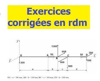 EXERCICES DES ET COURS RÉSISTANCE CORRIGES GRATUITEMENT .PDF TÉLÉCHARGER MATÉRIAUX