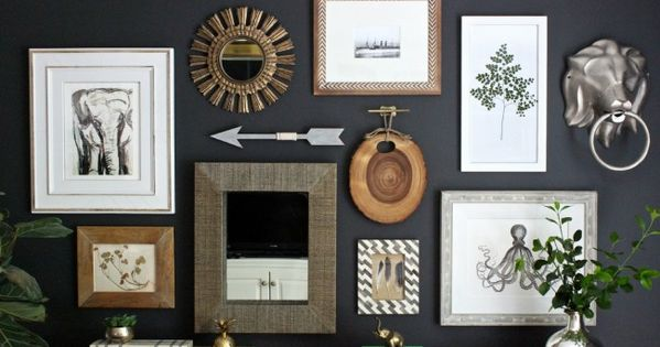 creating an eclectic gallery wall, home decor, wall decor