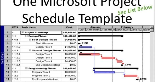 Provide you one microsoft project schedule template Schedule - project schedule templates