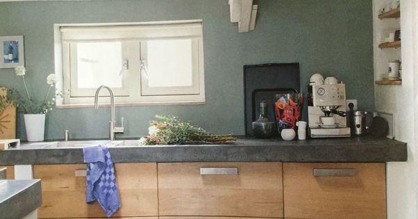 Stoere keuken mooie kleur achterwand keuken pinterest - Kleur verf moderne keuken ...