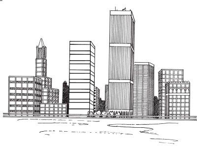 How To Draw A Cityscape In 5 Steps Landscape Drawing Easy Cityscape Drawing Landscape Drawings