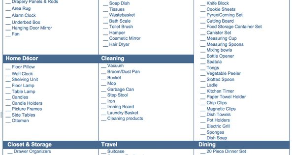 Inventory Checklist For Vacation Rental Google Search