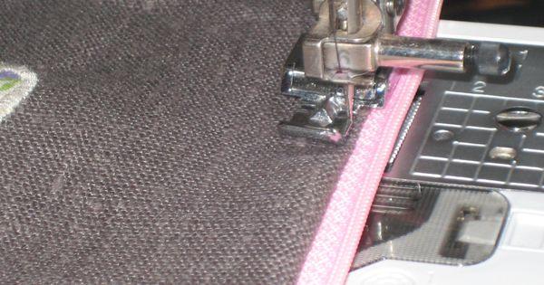 Tuto montage fermeture clair entre tissu et doublure couture trucs et astuces pinterest - Tuto gigoteuse sans fermeture eclair ...