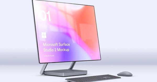 Desktop Surface Studio 2 Mockups Surface Studio Surface Psd Templates