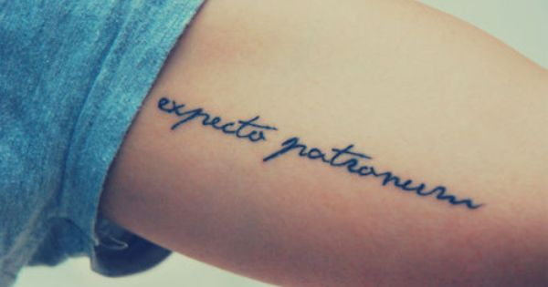 """I want a tattoo and this would work...""""The spell means 'I await"""