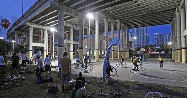Bike Polo At Jose Marti Park Miami Com Bike Basketball Park Park