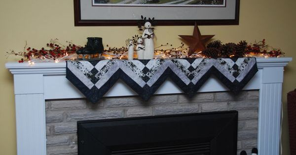 Winter Fireplace Mantle Scarf She Made Two Table Runners