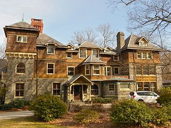 Main Line Estate Dolobran At 231 Laurel Lane Haverford Pa It Was Designed By Architect Frank Furness For Ship Shingle Style Suburban House Victorian Homes