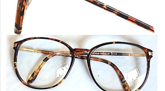 Vintage 80 S Tortoise Shell Eye Glasses Eyewear