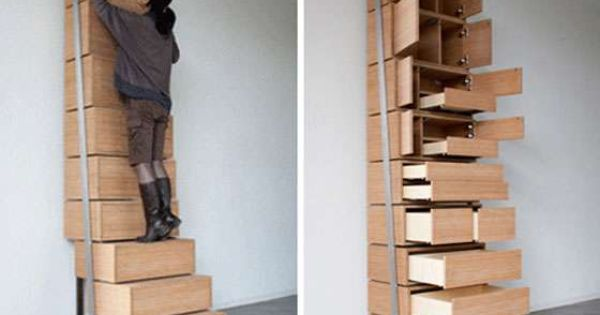 Staircase And Drawer Cabinet Storage Idea For Small Space | Cool Storage  Ideas | Pinterest | Cabinet Storage, Storage Ideas And Small Spaces