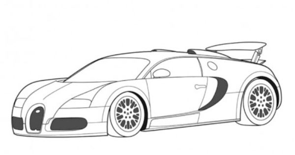 Kleurplaat Buggati Veyron Sport Racing Car Bugatti Veyron Cool Coloring Page Coloring