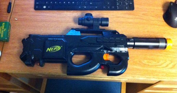 Nerf Rayven Fn P90 Mod Nerf Gun Attachments Pinterest