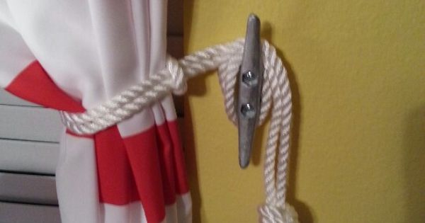 Comflooring San Francisco Ca : Boat cleat curtain tie back. Design - Windows Pinterest Curtain ...