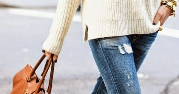 Street style | Boyfriend jeans and sweater
