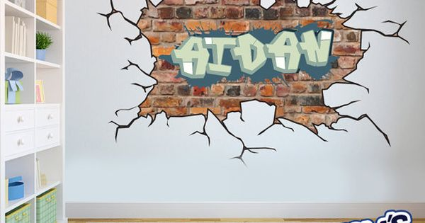 Brick Wall Graffiti Name Style And Color Scheme Wall