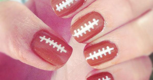 20 Super Bowl Nail Designs nails naildesigns superbowlnails nailart