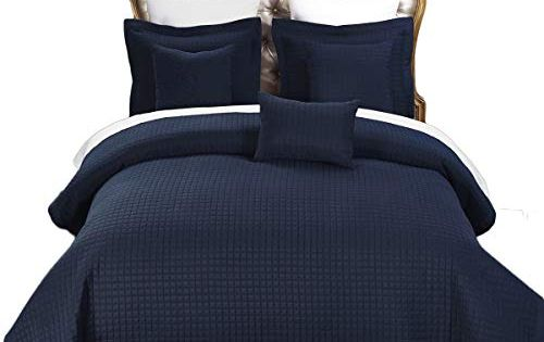Twin Twin Extra Long Size Navy Coverlet 2pc Set Luxury Microfiber C Bed Linens Luxury Affordable Bedding Sets Royal Bed