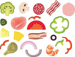picture relating to Printable Pizza Toppings titled Pin as a result of MU Vitamins and Health and fitness Extension upon Enjoyment For Children