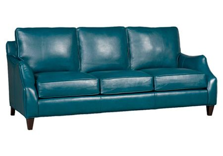 Wow teal leather sofa have a seat pinterest leather for Teal leather couch