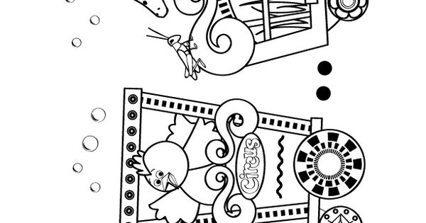 circus train coloring pages-#4