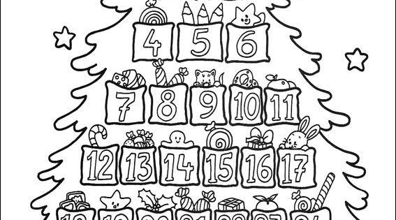 Un calendrier de l 39 avent coloriage de no l pinterest - Calendrier de l avent coloriage ...