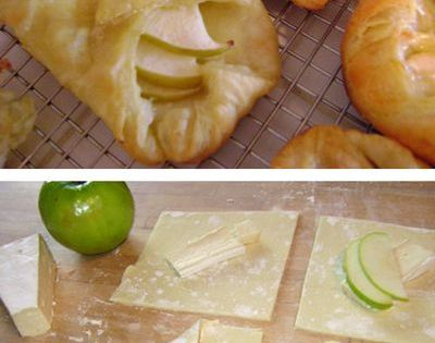 Individual Brie and Apple Tarts 1 box (2 sheets) of puff pastry,