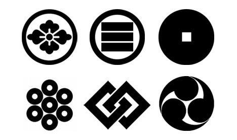 Various Mon Japanese Emblems Graphic Design Print Graphic