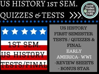 Us History Tests First Semester With Images Us History