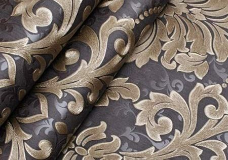 53cm*10m Victorian Damask Textured Luxury Thick Wallpaper Roll Metallic Embossed
