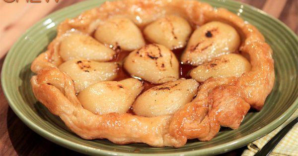 the chew | Recipe | Mario Batali's Pear Tart Tatin- Someasy &