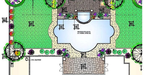 Roman Shaped Pool With Landscaping - Google Search | My Future