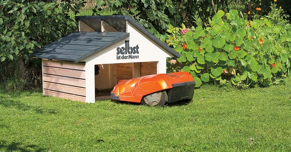 m hroboter garage selber bauen rasenroboter pinterest lawn mower and lawn. Black Bedroom Furniture Sets. Home Design Ideas