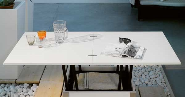 Coffee Table Turns Into A Dining Table For 6 Great For