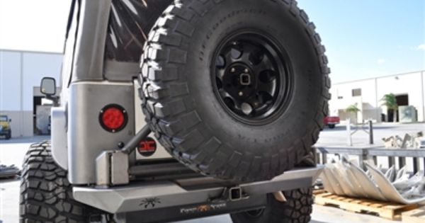 Tj Rockbrawler Rear Bumper With Tire Carrier Jeep Wrangler Tj