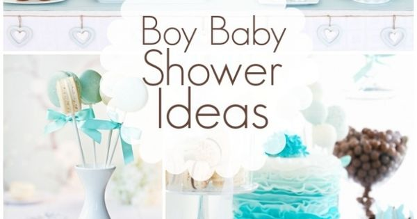 Boy Baby Shower Ideas - I really like the cake and cupcake. The gradient and color is less of the typical baby blue and more towards the teal color I was to stick with.