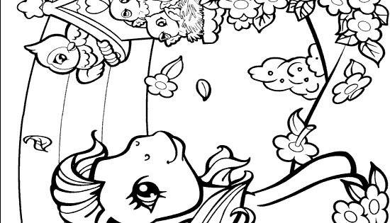 Girly coloring pages: My Little Pony, Barbie, mermaid ...