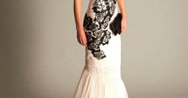 Marchesa Spring 2010 Love the black and white lace for a wedding