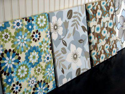How To Make Fabric Art Fabric Wall Art Art Display Panels Fabric Art