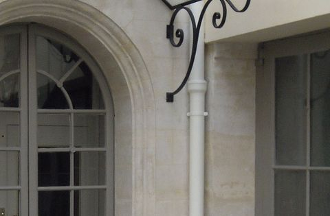 Arched Wrought Iron Door Awning Exterior Shop Details