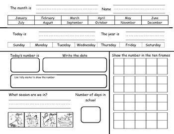 Calendar Journal 2015 Worksheets Google Search School Kindergarten Calendar Calendar Math Kindergarten Calendar Math