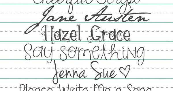 Free Handwriting Fonts at LisaMoorefield / ALittleScrapbooking ~~ {10 free fonts w/