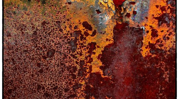 Rust Abstract Photography 8 x 10 Fine Art by theheartoftheeye