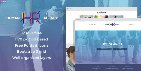 Human Agency Hr Psd Template Templates Website Template Psd Templates
